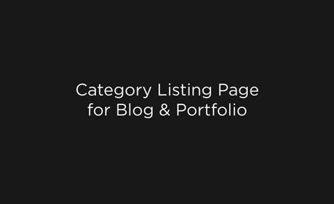 Category Listing Page