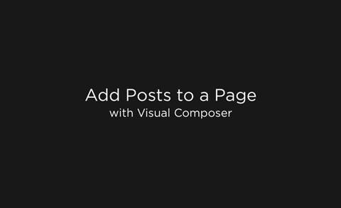 Using Posts Element